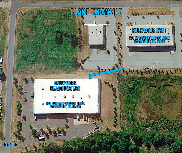 Ballymore expansion arial map