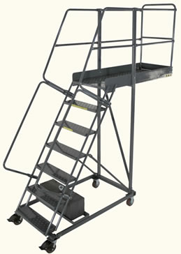 Photo of 7-step cantilever ladder