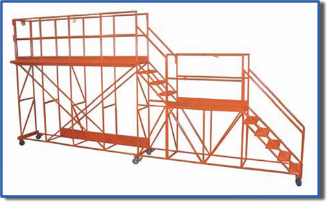 Photo of large custom industrial work platform