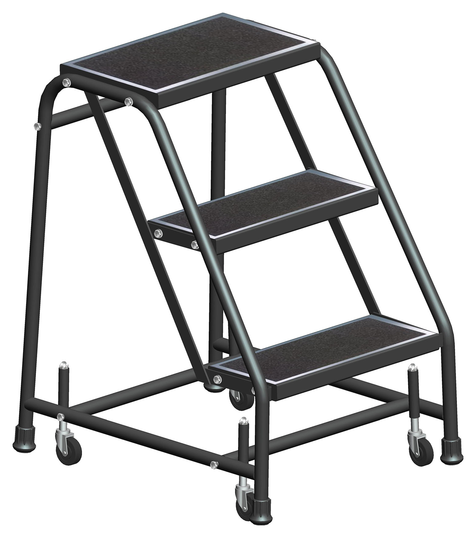 Standard Rolling Ladders With Spring Loaded Casters