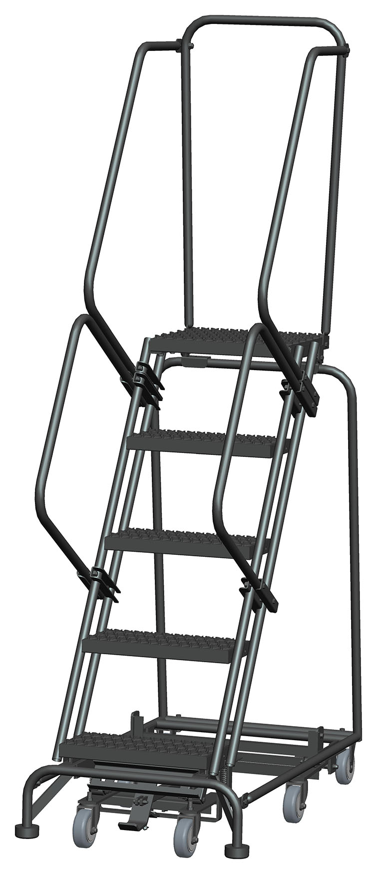 Weight Actuated Lockstep Ladders All Directional Option