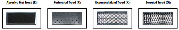 Photo depicting various tread selections