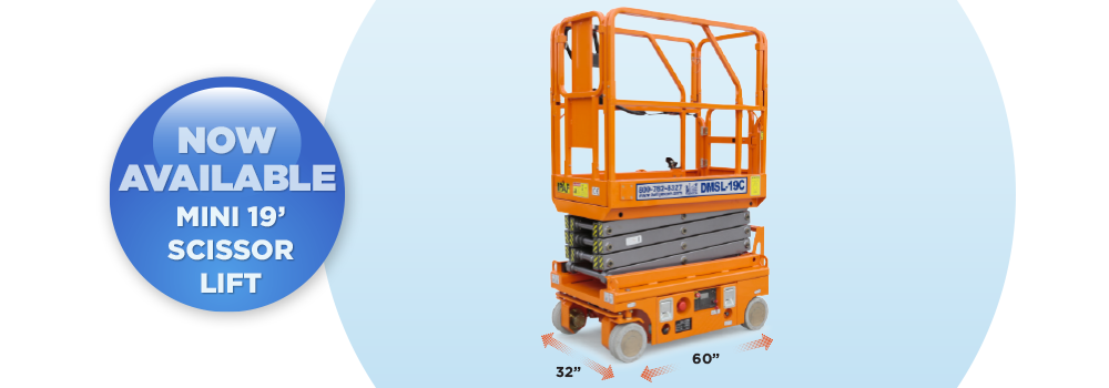 dmsl-19, our 19 foot scissor lift, is now available