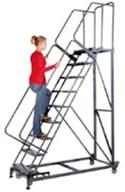 Photo of woman climbing monster line ladder